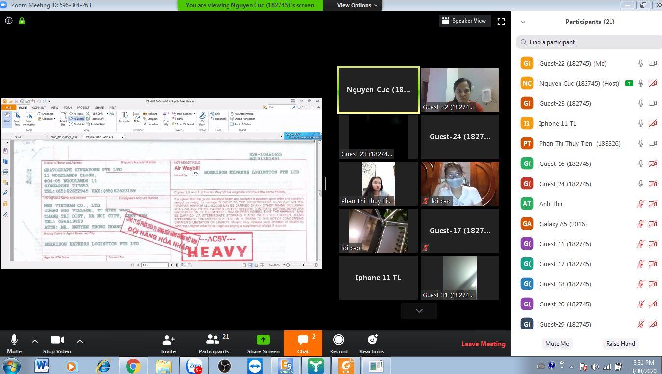 Khóa học xuất nhập khẩu online được giảng dạy tại VinaTrain