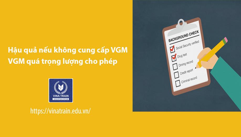 Không Khai báo VGM sẽ bị rớt tàu