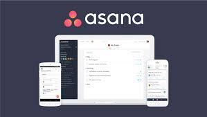 Giao diện phần mềm quản lý công việc Asana