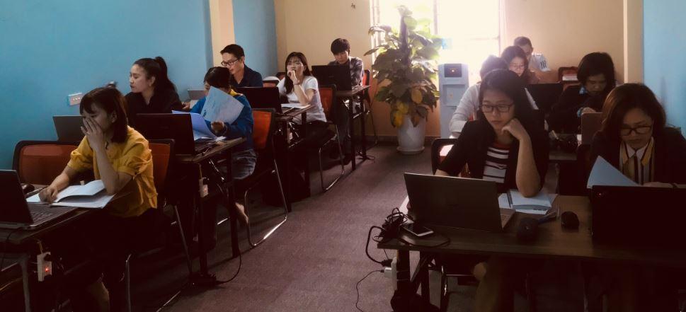 Hình ảnh đào tạo xuất nhập khẩu tại VinaTrain chi nhánh Hà Nội