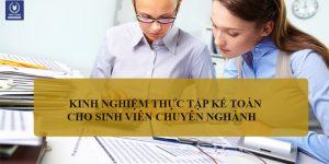 Thực tập kế toán là sự thay đổi của rất nhiều sinh viên tư đi học qua đi làm