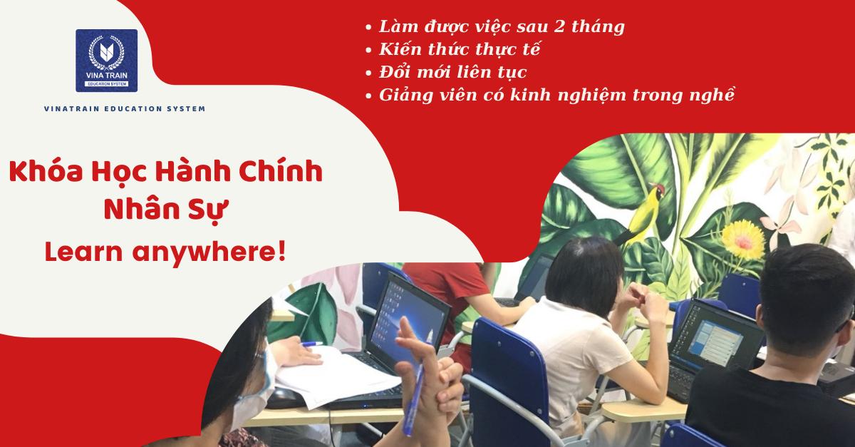 Các khóa học hành chính nhân sự tại VinaTrain được tổ chưc theo hình thức đào tạo online và offline