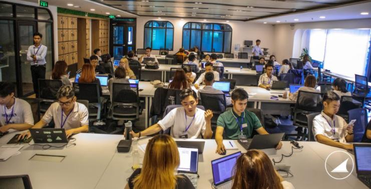 Hình ảnh các thí sinh trong cuộc thi tham gia vòng loại Business Hackathon 2020
