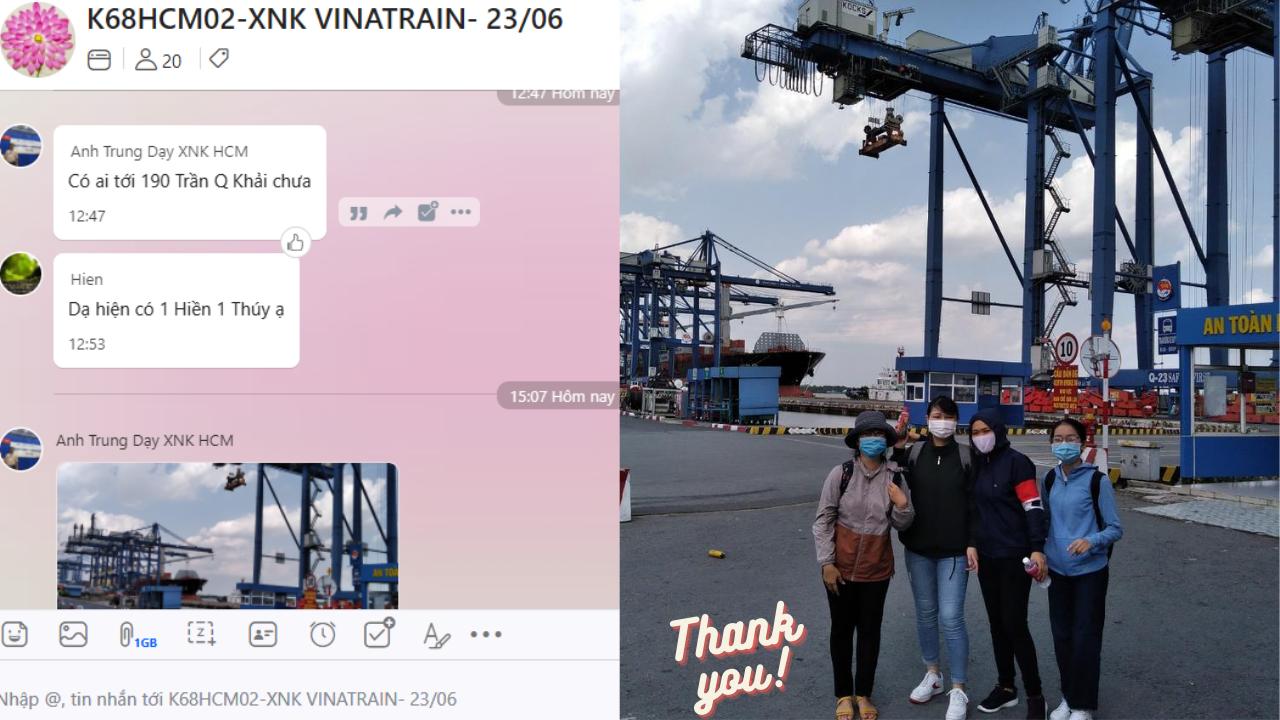 Học viên tại VinaTrain đi thực tế tại cảng Cát Lái, Hồ Chí Minh