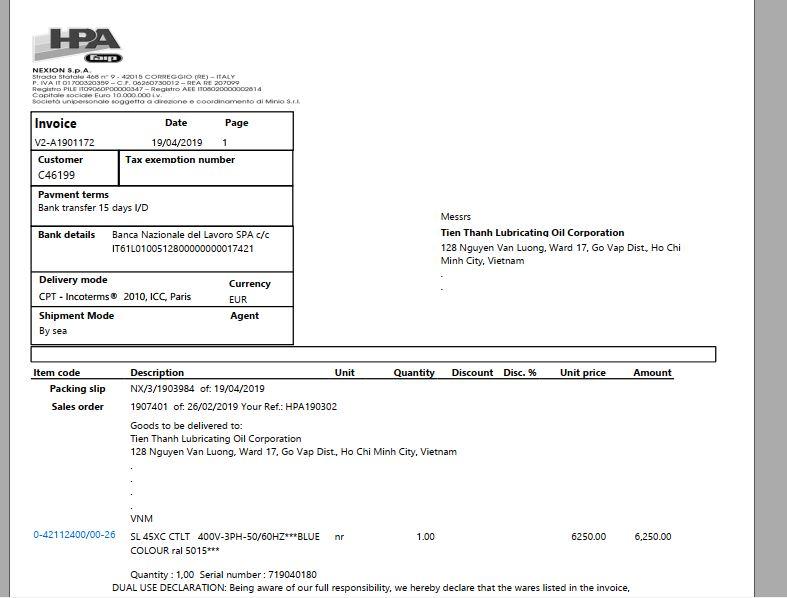 Invoice là hóa đơn có tên gọi khác nhau như: CI, INV